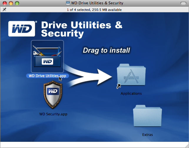 Installera programvaran WD Drive Utilities MY PASSPORT FOR MAC Installera programvaran WD Drive Utilities: 1. Dubbelklicka på ikonen My Passport och dubbelklicka sedan på.