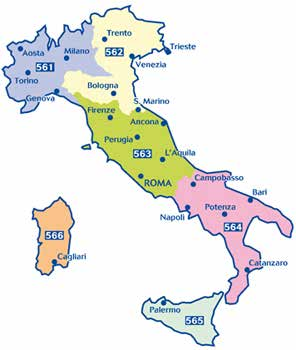Italien Michelin Regional Maps Italy 561 Northwest 1:400.000 9782067183933 562 Northeast 1:400.000 9782067183971 563 Central 1:400.000 9782067184015 564 Southern Italy 1:400.
