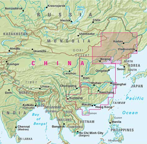 Kina Nelles Map China 1 North East China 1:1,75 mill.