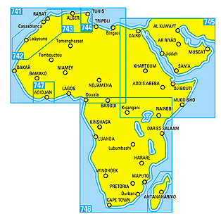 Afrika Michelin National Maps Africa 741 North & West 1:4 mill. 9782067172203 742 Morocco 1:1 mill. 9782067202887 743 Algeria Tunisia 1:1 mill.