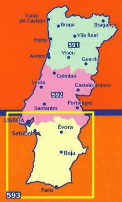 Portugal Michelin Regional Maps Portugal 591 Nord 1:300.