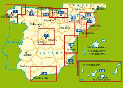 Spanien Michelin Zoom Map Spain 121 Alrededores de Madrid 1:170.000 2067100726 123 Costa Blanca 1:130.000 9782067141452 124 Costa del Sol 1:200.