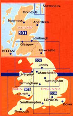 Storbritannien Michelin Regional Map GB 501 Scotland 1:400.000 9782067183216 502 Northern England, The Midlands 1:400.