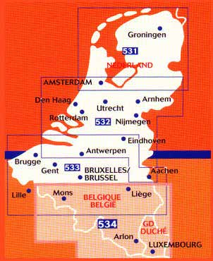 Benelux Michelin Regional Map Benelux 531 Holland, North 1:200.000 9782067183377 532 Holland, South 1:200.