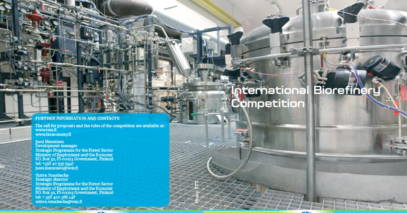 Biorefinery competition (Ministry of