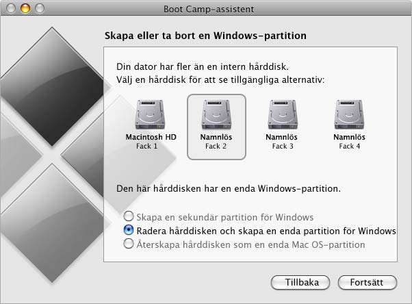 Så här skapar du en partition för Windows: 1 Ange storleken på din Windows-partition. Bestäm optimal storlek på partitionen för ditt system med hjälp av Windows installationsdokumentation.