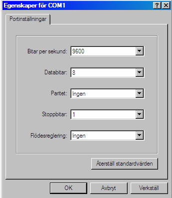 Configuration by terminal program and cable If the IP-address is unknown or the subnet mask is different than default, the IPaddress for EDW-100 can be set with a Windows terminal program