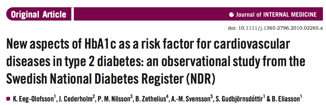 Hypothesis: Better glycaemic control reduces the risk of cardiovascular disease in type 2 diabetes Aim: To investigate the association between