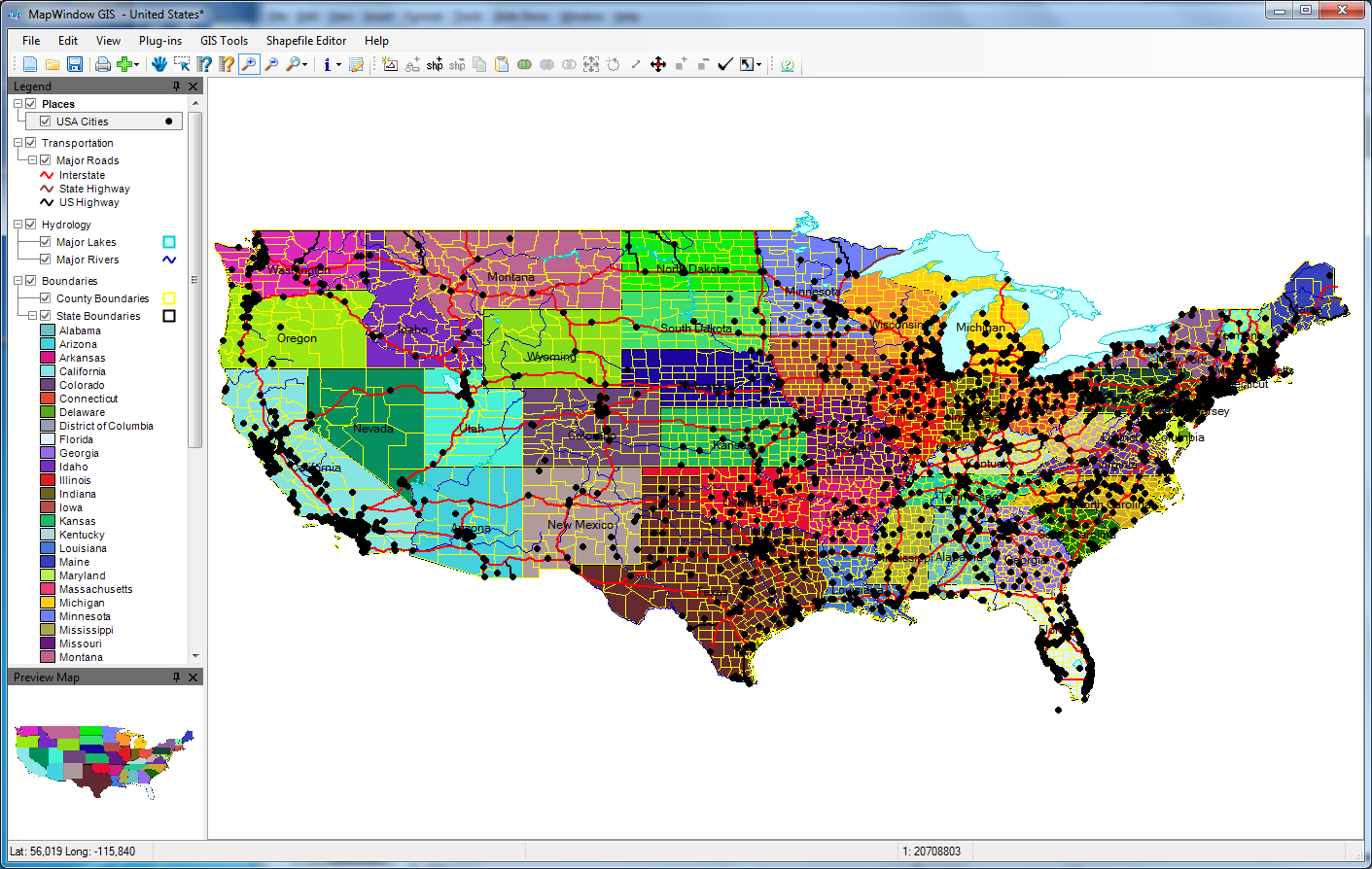 MapWindow GIS tool Spatial raster data
