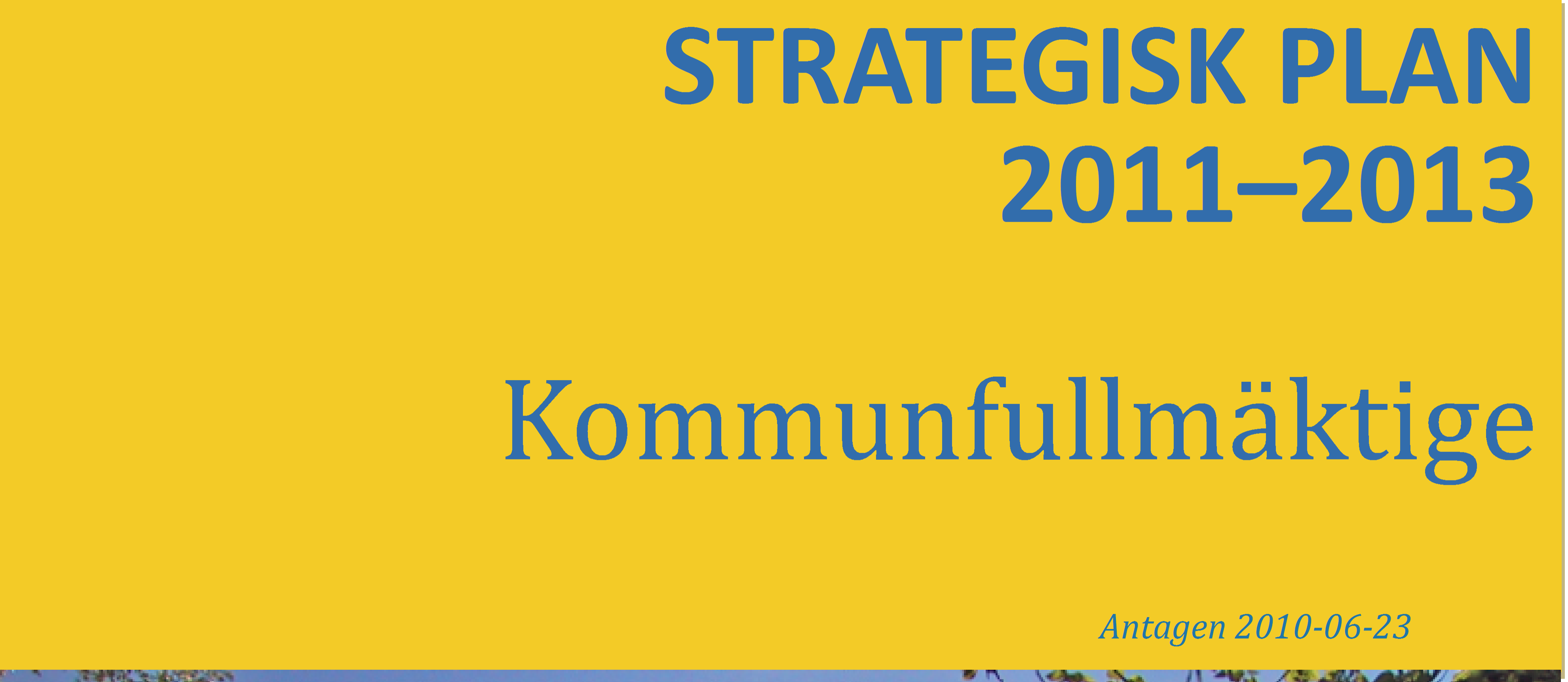 STRATEGISK PLAN