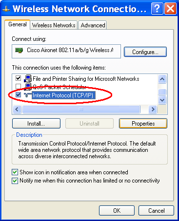 Verifiera att Obtain an IP address automatically och