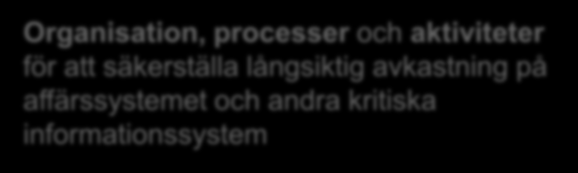 Vad är IS Lifecycle Management?