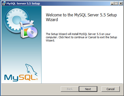 Appendix A Installation av MySQL Community Server 5.5.9 1.