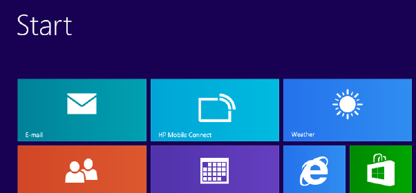 Getting Started Windows 8 - HP Mobile Connect Pro App Registration In order to avail of your 200MB free data, you must first register your details.