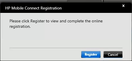 With a valid LAN or WLAN Internet connection, you should next be prompted to register. [Fig.6] Fig.