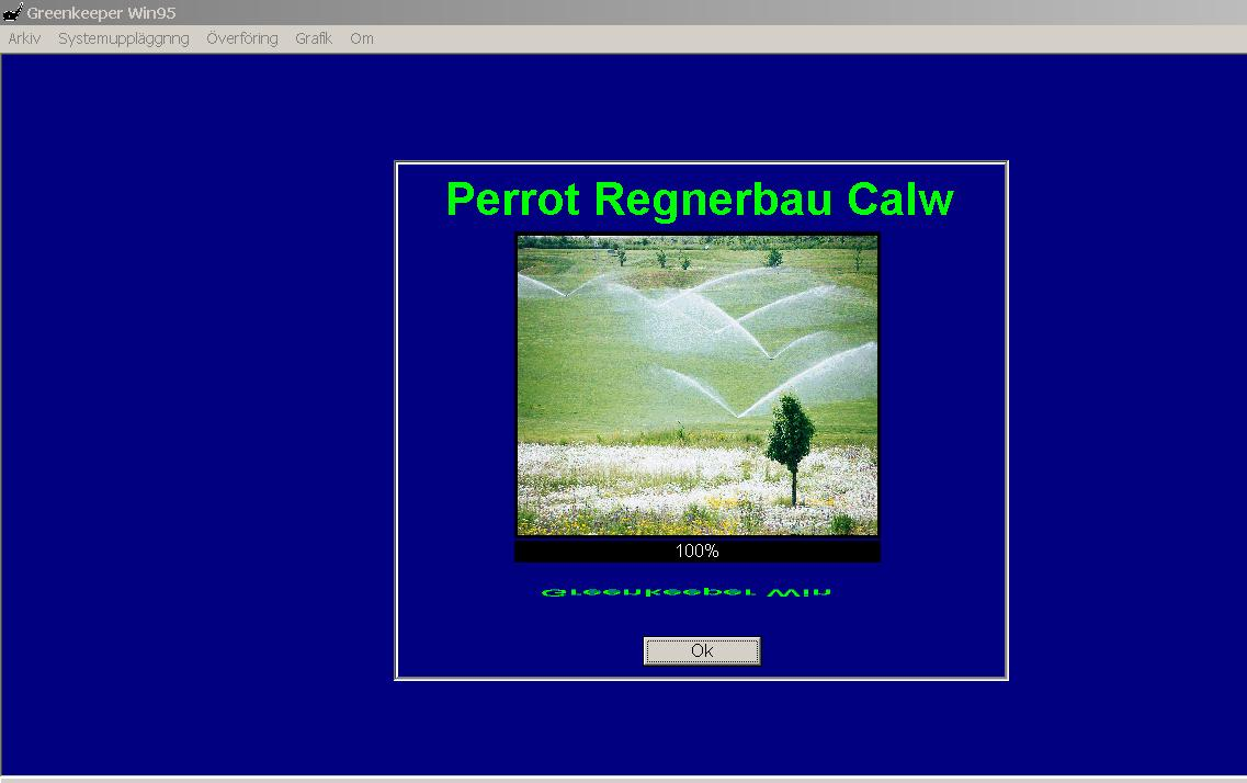 Handbok Perrot Greenkeeper Windows 95 ver. 2.