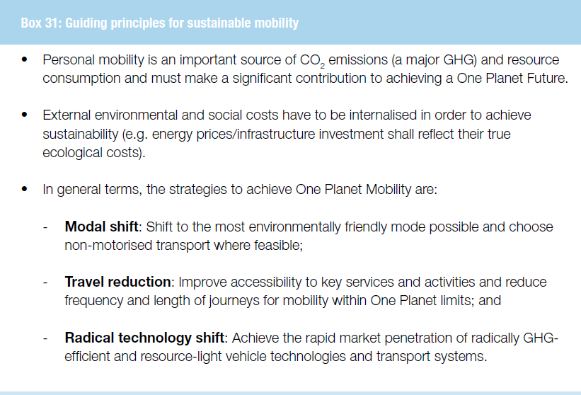 One planet mobility, 2008, WWF,