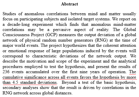 a) Författarna skriver att: The cumulative significance across all events favors the hypothesis by more than 4.5 standard deviation. Notering: Läs som 4,5 standardfel.