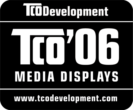 TCO Information Congratulations! The product you have just purchased carries the TCO 06 Media Displays label.