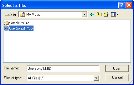 Om du inte hittar genvägsikonen väljer du [Start] [All Programs] [YAMAHA] [Musicsoft Downloader 5] [Musicsoft Downloader]. Musicsoft Downloader startas och huvudfönstret visas.