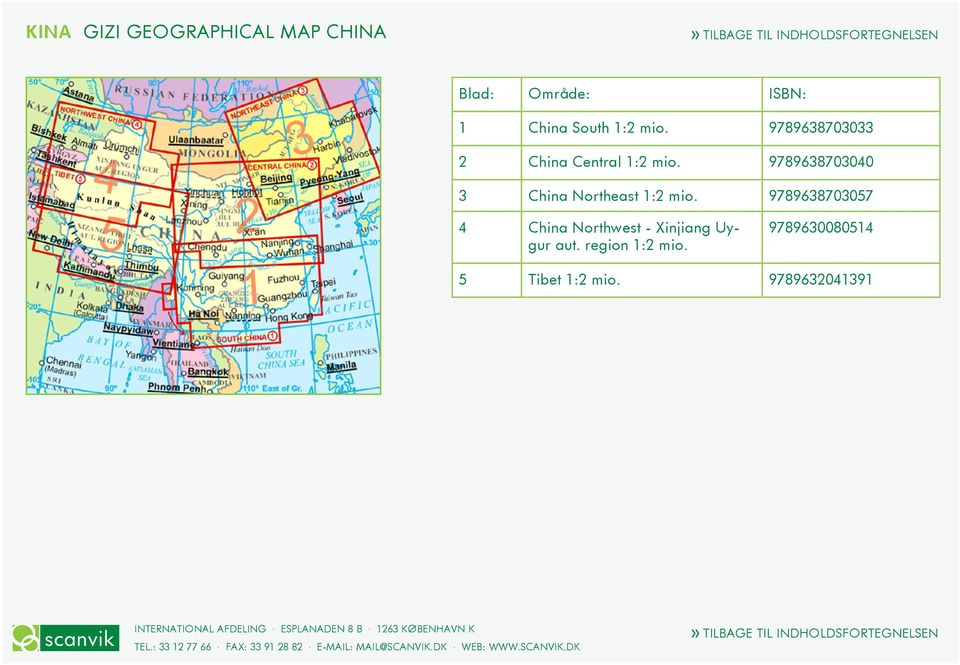 9789638703040 3 China Northeast 1:2 mio.