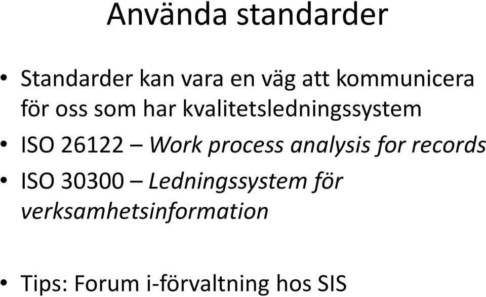 26122 Work process analysis for records ISO 30300