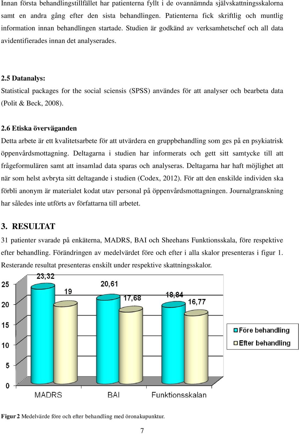 5 Datanalys: Statistical packages for the social sciensis (SPSS) användes för att analyser och bearbeta data (Polit & Beck, 20