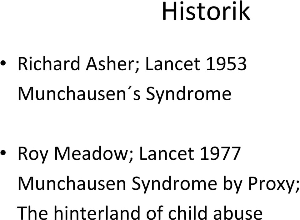 Lancet 1977 Munchausen Syndrome by