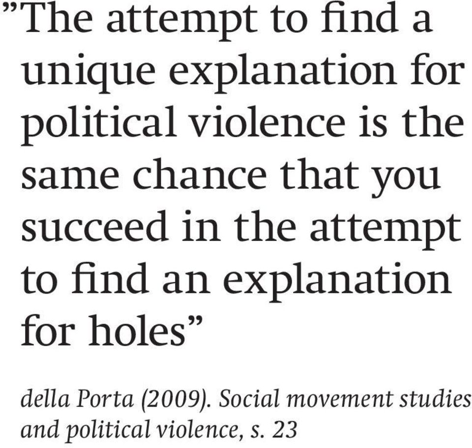 attempt to find an explanation for holes della Porta