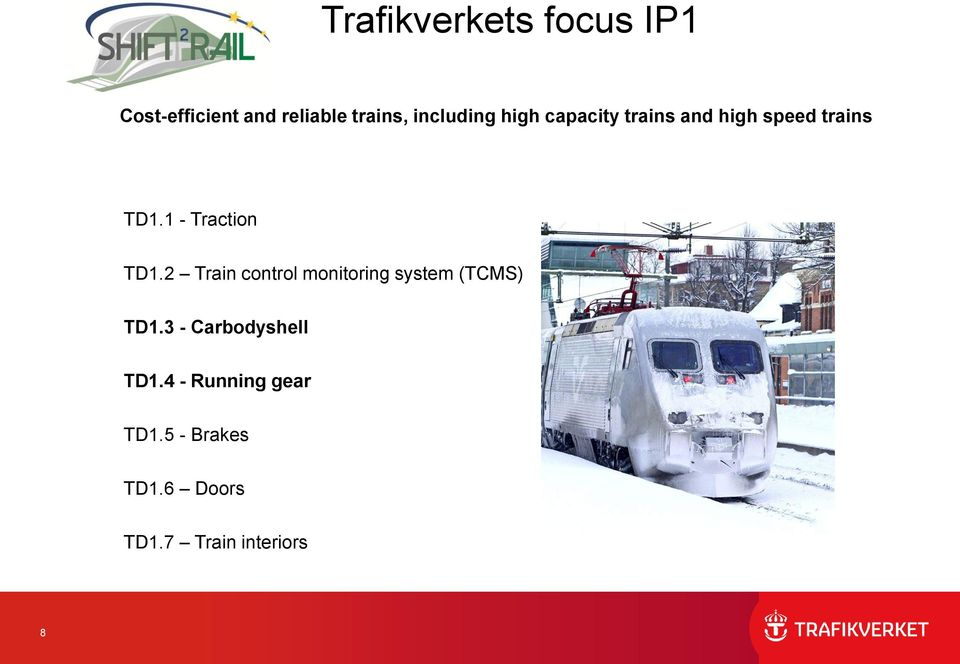 2 Train control monitoring system (TCMS) TD1.3 - Carbodyshell TD1.