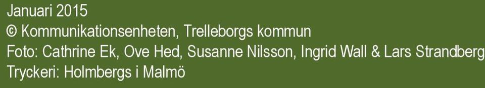 Ove Hed, Susanne Nilsson, Ingrid Wall &