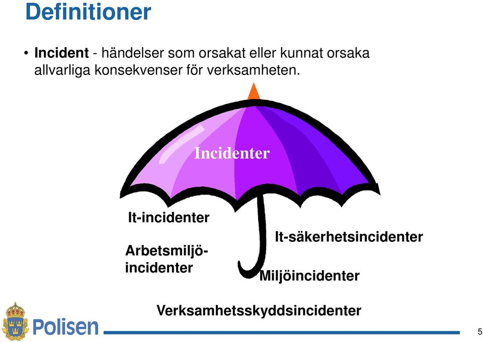 Incidenter It-incidenter Arbetsmiljöincidenter