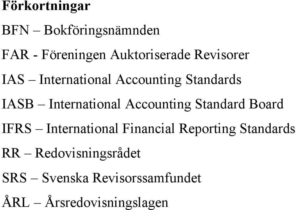 Accounting Standard Board IFRS International Financial Reporting