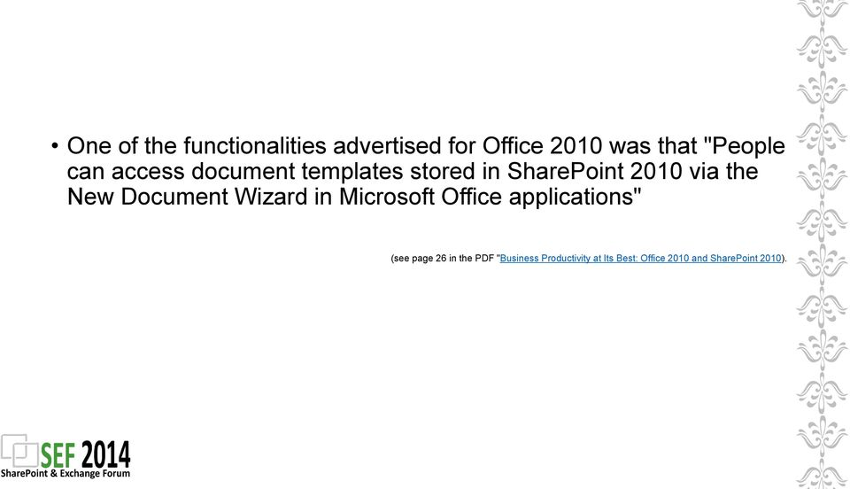 "Document Wizard in Microsoft Office applications"" (see page 26 in the"