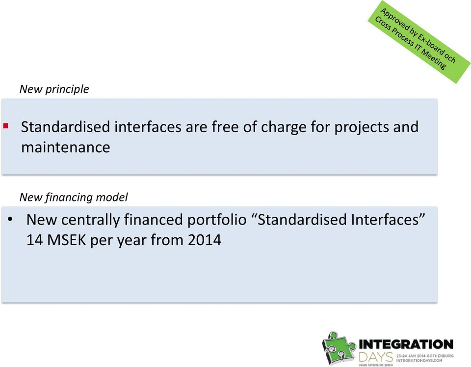 financing model New centrally financed