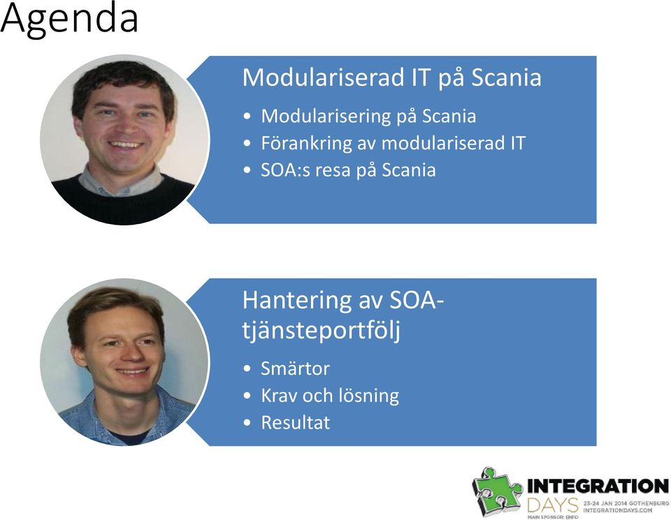 modulariserad IT SOA:s resa på Scania