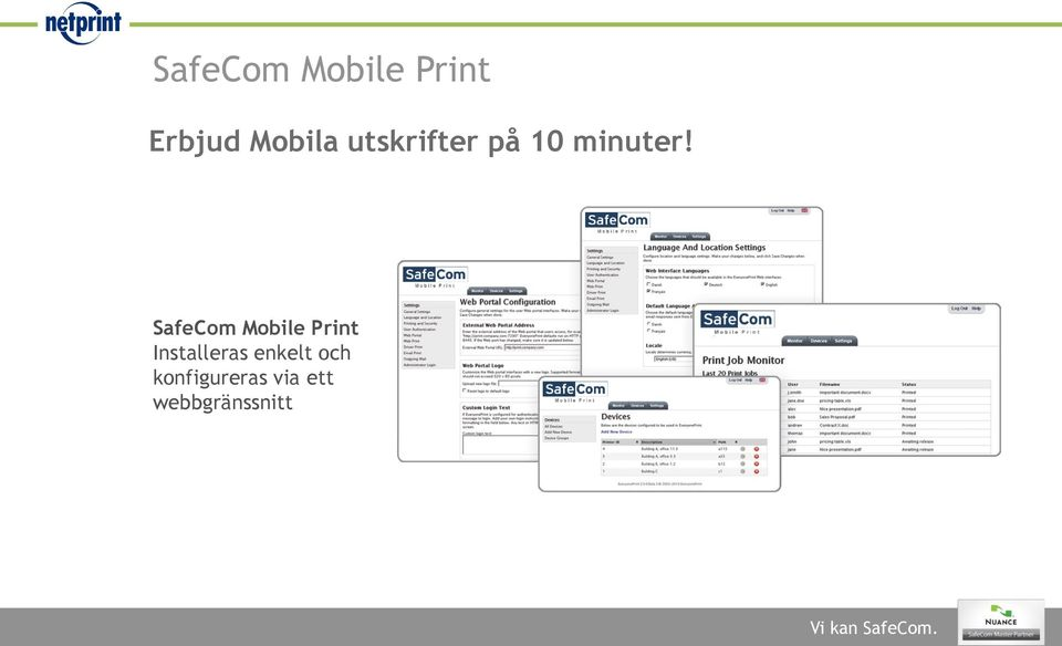 SafeCom Mobile Print Installeras