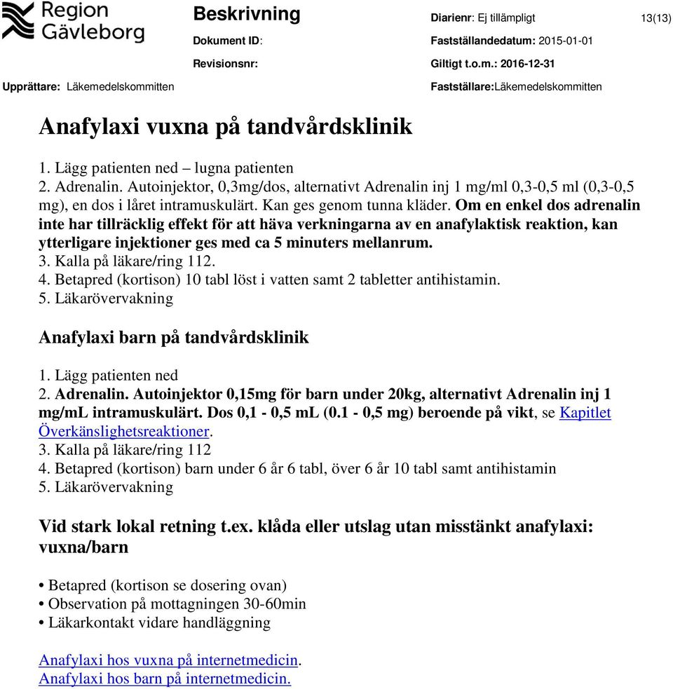 allergisk reaktion internetmedicin