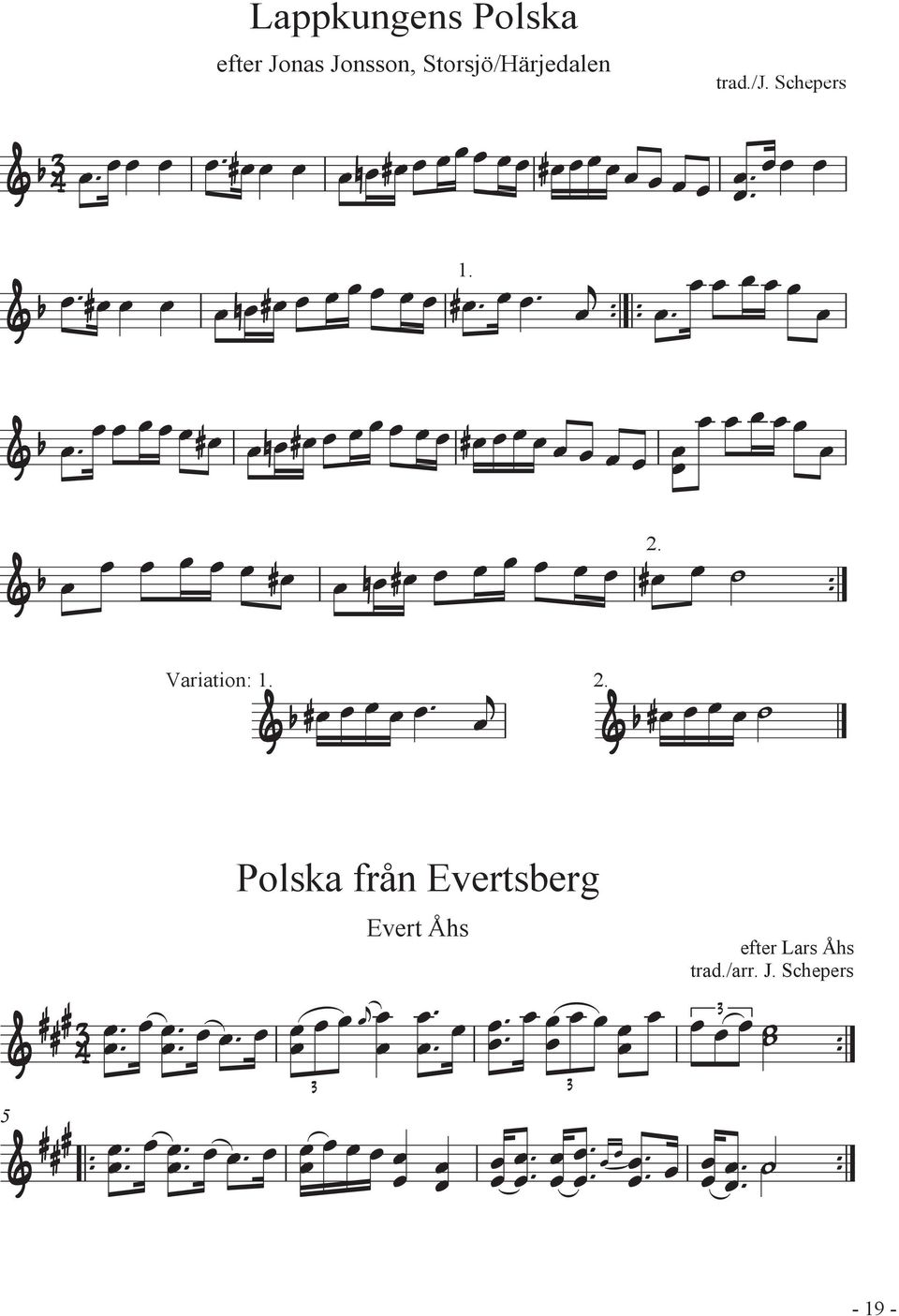 Schepers Variation: Polska från Evertsberg