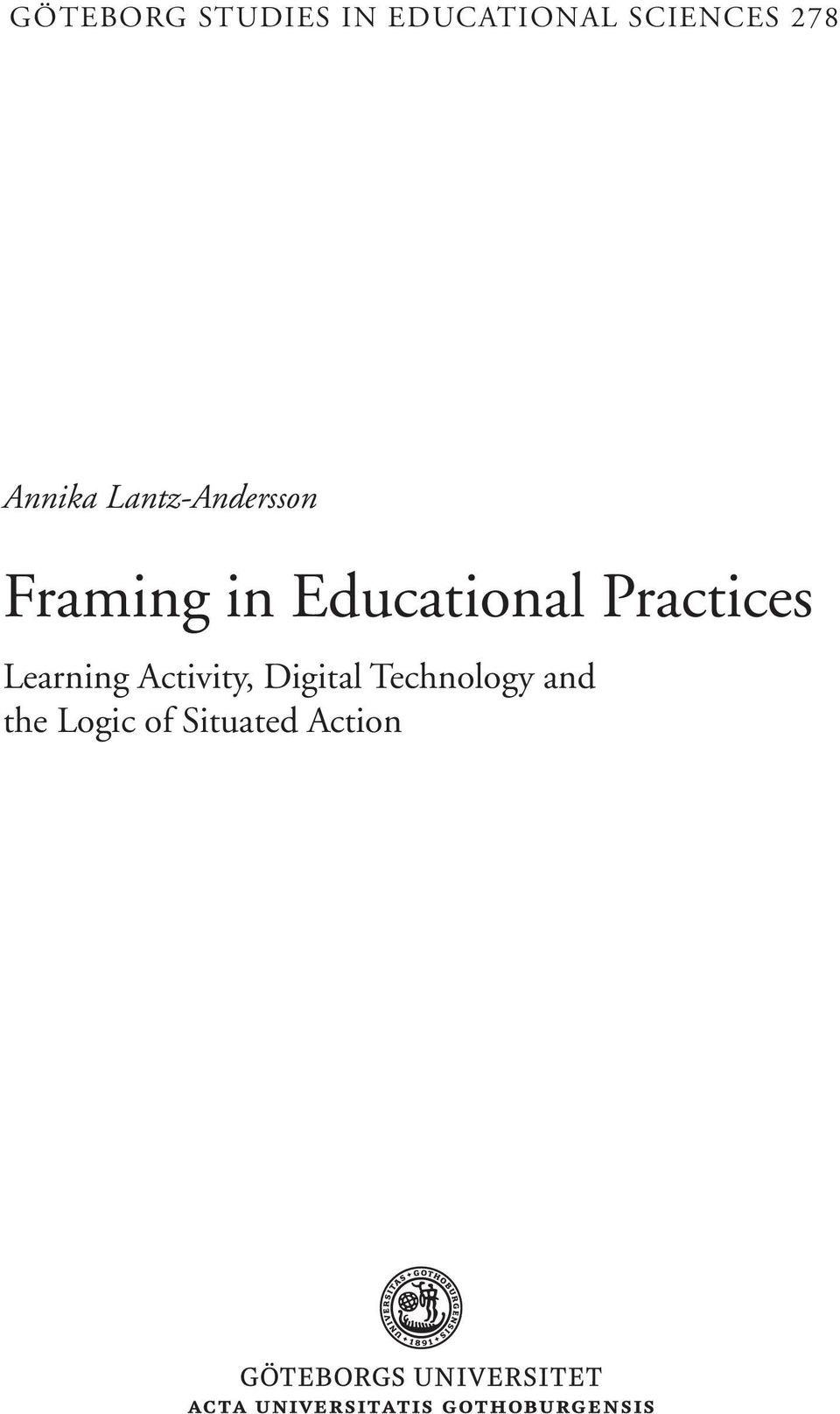 Educational Practices Learning Activity,