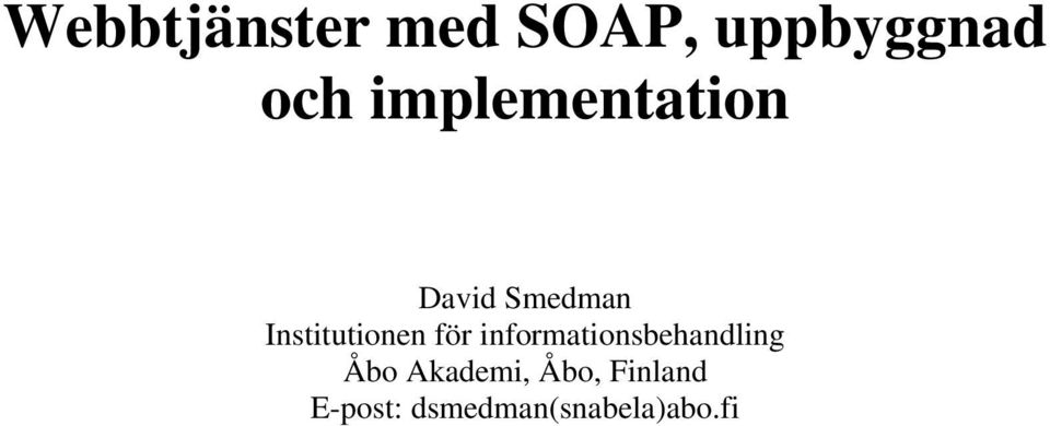 Institutionen för informationsbehandling