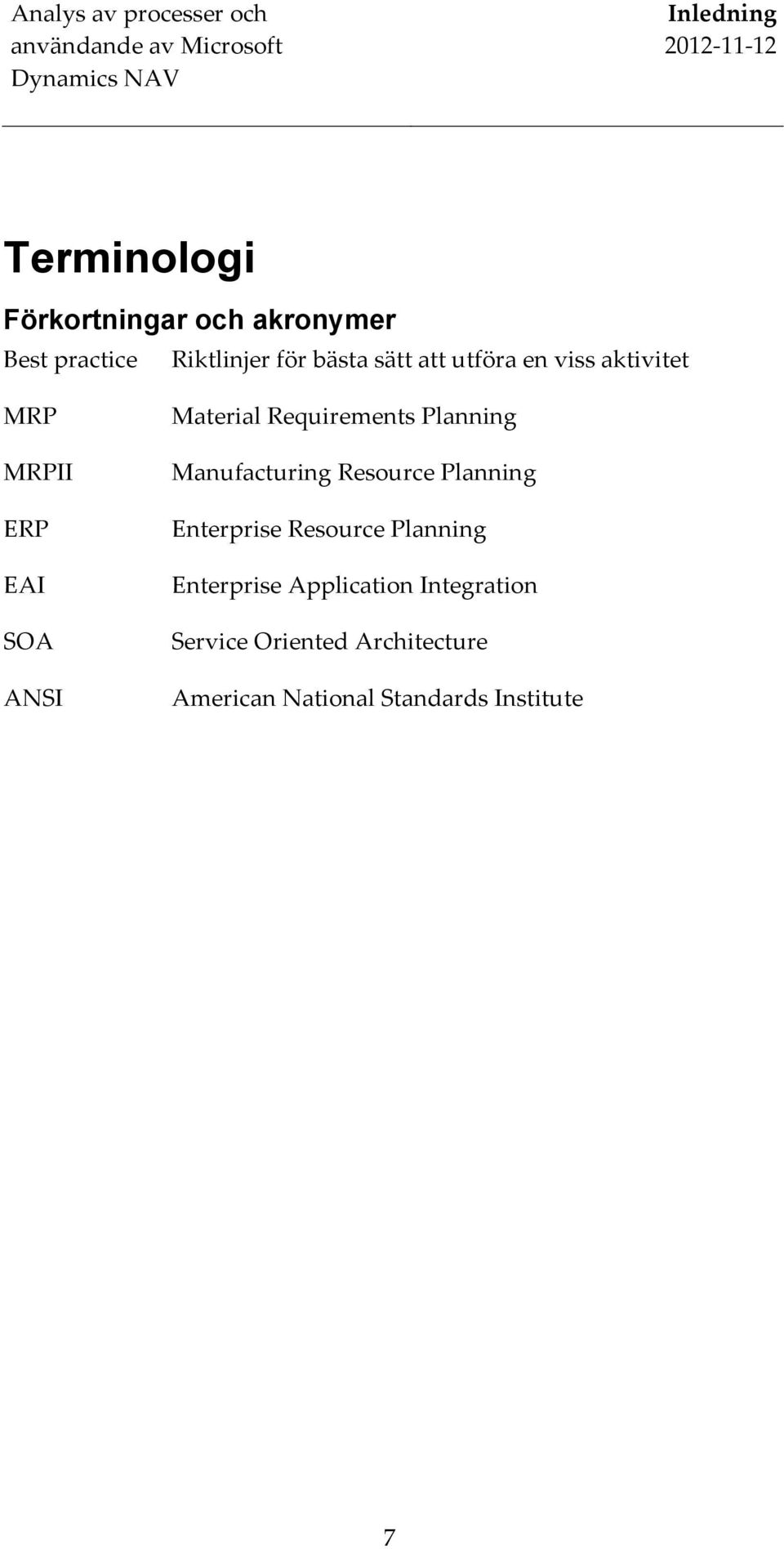 Planning Manufacturing Resource Planning Enterprise Resource Planning Enterprise