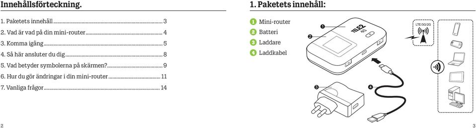 .. 8 Mini-router Batteri Laddare 4 Laddkabel LTE/G/G 5.