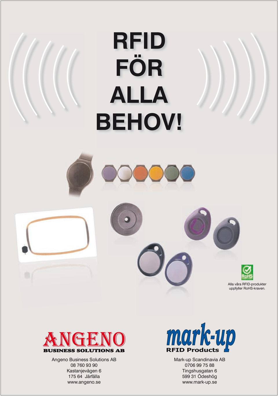 RFID Products Angeno Business Solutions AB 08 760 93 90
