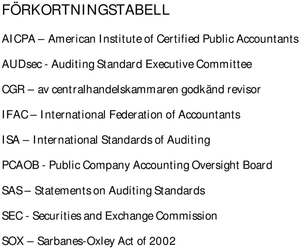 Accountants ISA International Standards of Auditing PCAOB - Public Company Accounting Oversight Board
