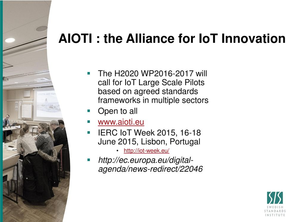 sectors Open to all www.aioti.