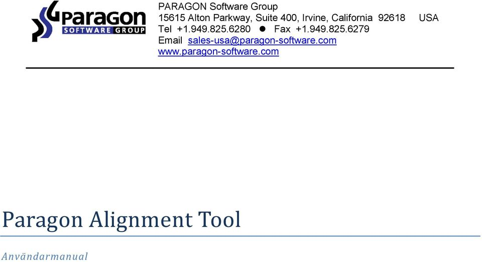 949.825.6279 Email sales-usa@paragon-software.com www.