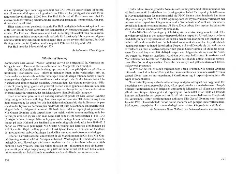 Han pensionerades 1 april 1966.