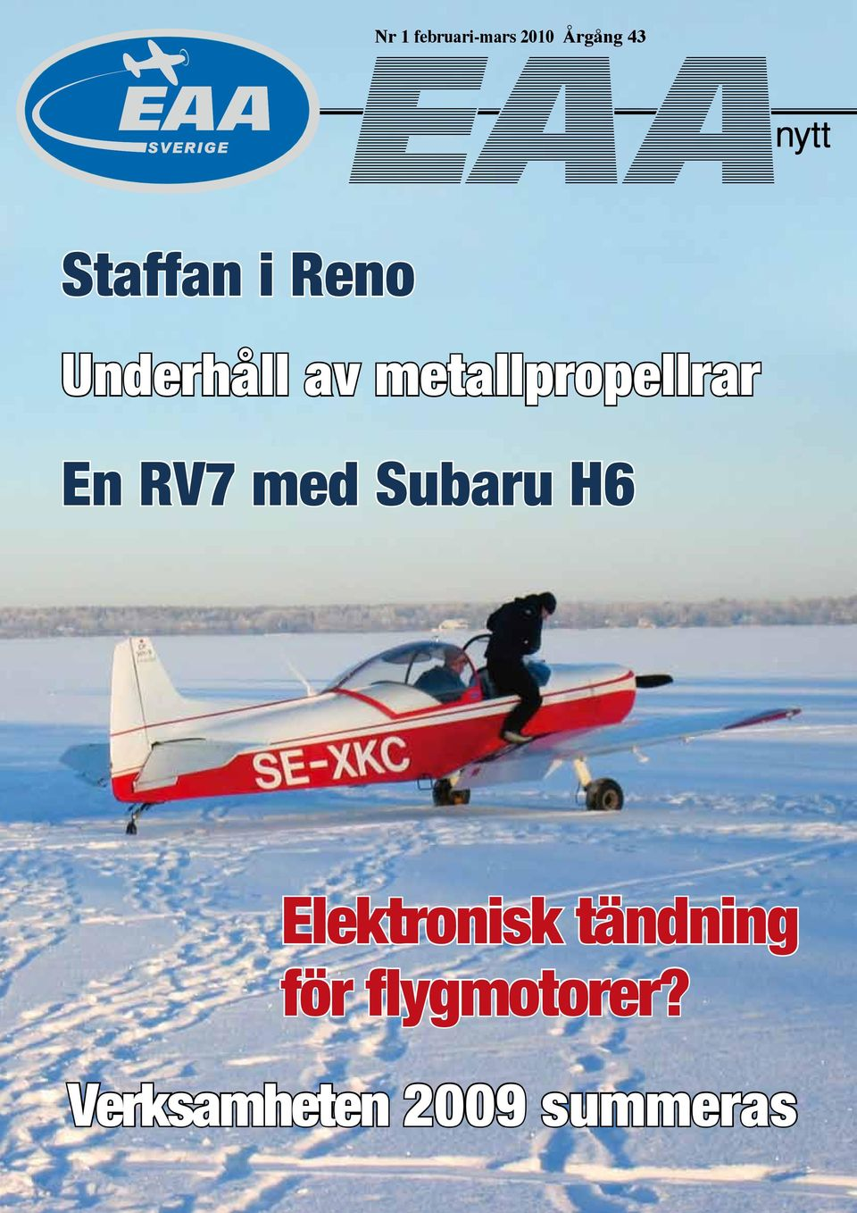 metallpropellrar En RV7 med Subaru H6