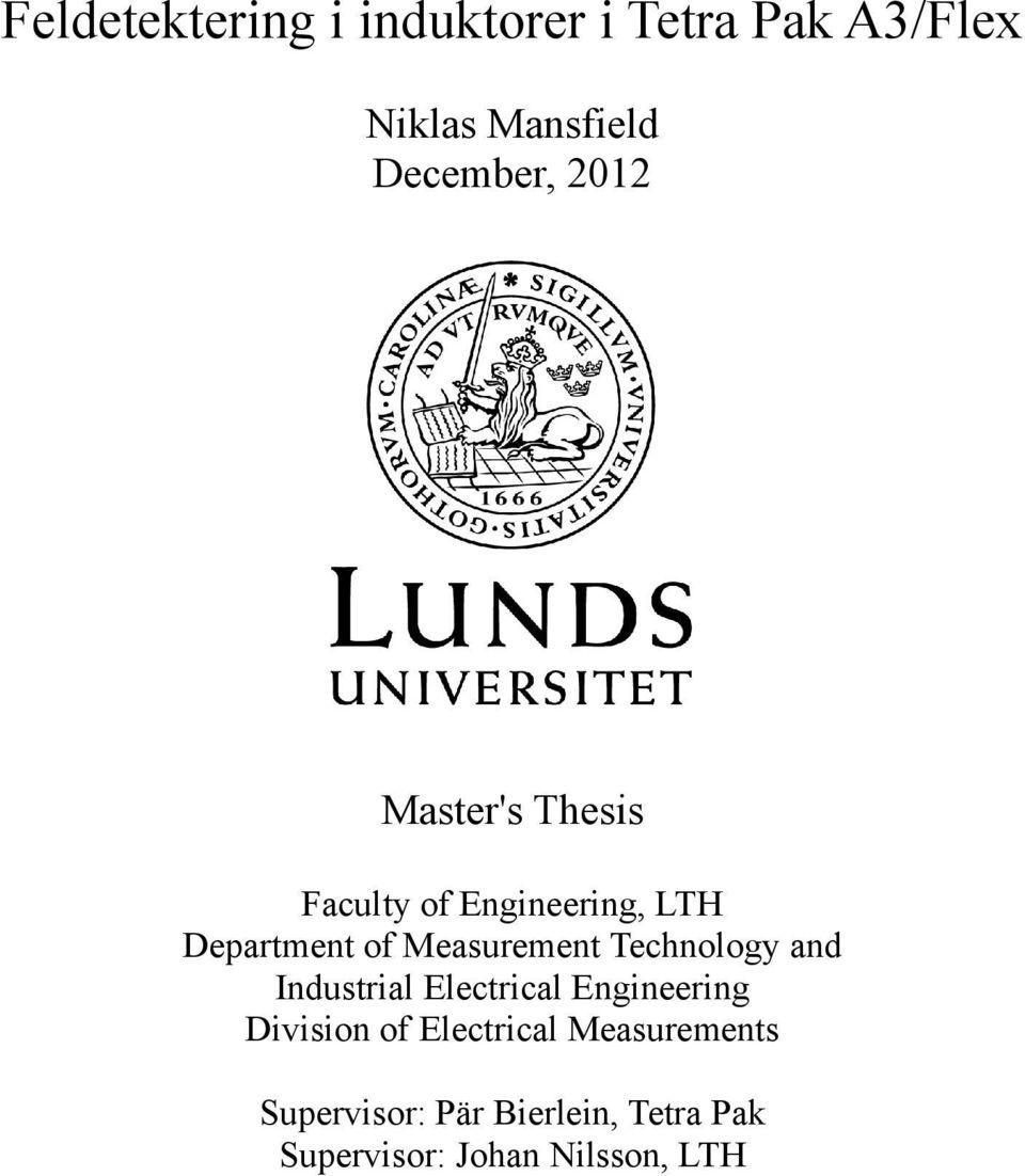 Technology and Industrial Electrical Engineering Division of Electrical
